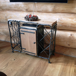 Wrought iron chest of drawers for TV and wine