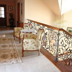 A romantic hand-forged railing - interior railings