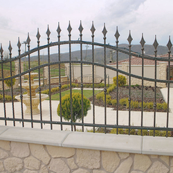 A forged fence component – fence of a family villa
