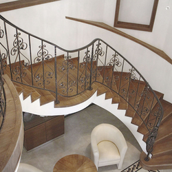 Extraordinary forged staircase railing – indoor railing