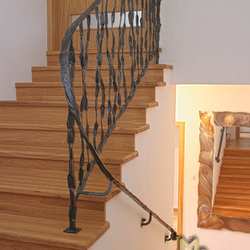 A hand wrought iron railing - crazy - interior staircase railing