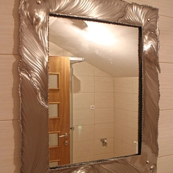 A stainless steel mirror