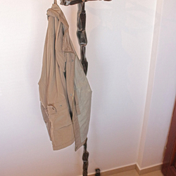 A wrought iron coat rack - wrought iron furniture