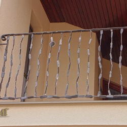 The wrought iron balcony railing - CRAZY